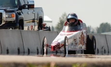 Kevin Pennyfeather/Rep staff Racers from far and wide like 13-year-old Rhiannon Allison stormed the Castrol Raceway for the start of the Rocky Mountain Nationals competition on July 14. The air was 23C, but the track was a scorching 50C during the prelim testing in the afternoon.