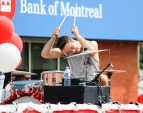 Kevin Pennyfeather/Rep staff The Gateway Family Church showcased a live band on their float in the annual Canada Day parade down Leduc's Main Street.