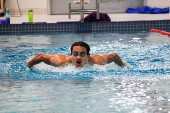 Kevin Pennyfeather/Rep staff Sterling Blair, 15, trained at the Beaumont Aqua-Fit Centre on August 1 in preparation for his four events at the 50th Canada Summer Games in Winnipeg on August 5. The butterfly stroke specialist will compete with Swim Alberta in a bid to dominate the national podiums.