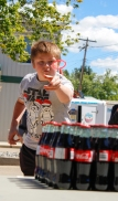 Kevin Pennyfeather Rep Staff Brayden MacLellan aced the soda pop ring toss game at the first annual Thorsby Thunder Days Festival on June 17. The festival celebrated Thorsby's new designation as a town and Canada's 150th birthday.
